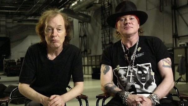 Axl Rose fue incluído como cantante de AC/DC para terminar la gira de la banda