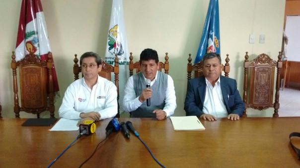 Presentación de la situación de construcción de hospitales en Cajamarca