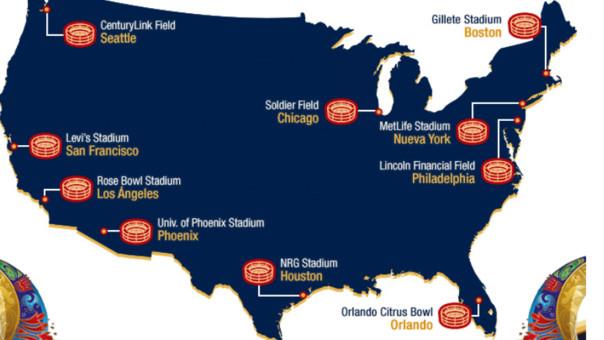 Estas son las sedes de la Copa América Centenario USA 2016.
