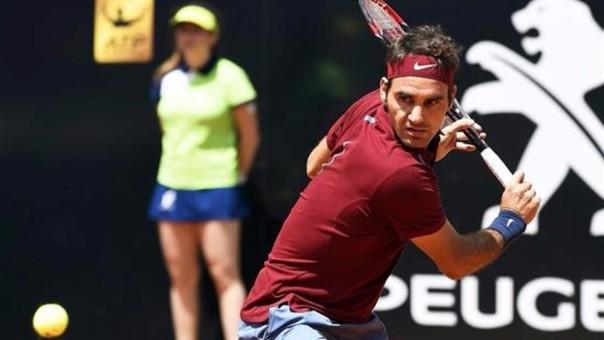 Roger Federer se despidió del Masters 1000 de Roma.