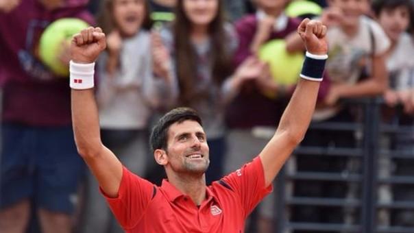 Novak Djokovic estará en la semifinal del Masters 1000 de Roma.