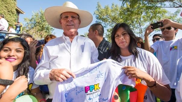 Pedro Pablo Kuczynski se encuentra en una gira proselitista en las regiones de Arequipa, Puno, Moquegua y Tacna.