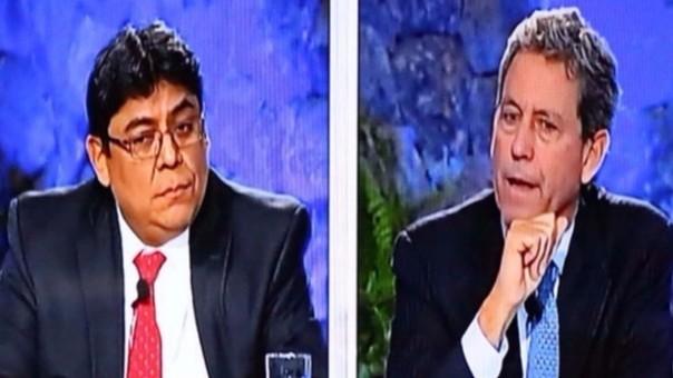 Elmer Cuba, de Fuerza Popular, y Alfredo Thorne, de Peruanos Por el Kambio, respectivamente.