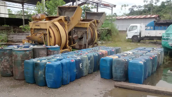 Sunat decomisó combustible que habría estado dirigido a minería ilegal.