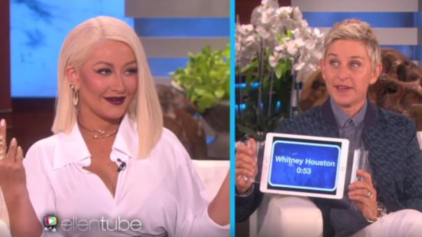Christina Aguilera canta los éxitos de otras divas -1
