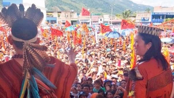 Keiko Fujimori realizó gira por el sur del país