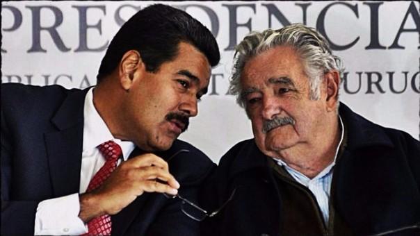 Nicolás Maduro y José Mujica