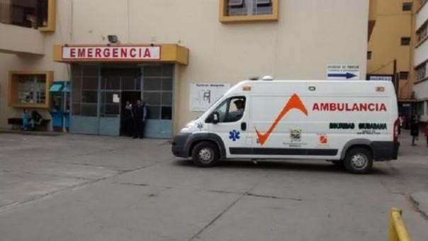 El joven trabajador recibe atención médica en el Hospital San Juan Bautista de Huaral.