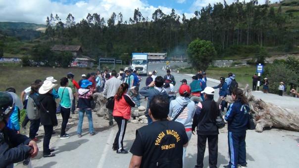 Bloqueo de vías en Chota