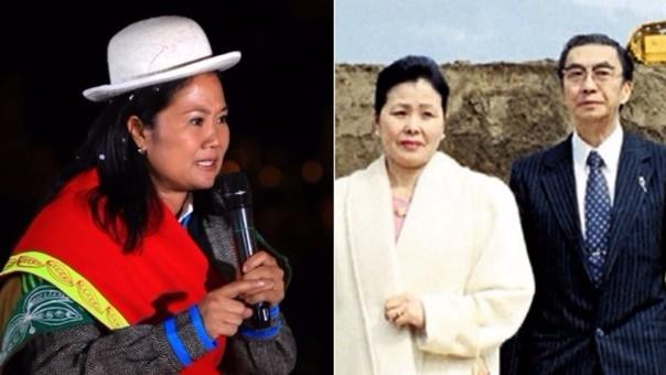Keiko Fujimori y sus tíos Rosa y Víctor Aritomi