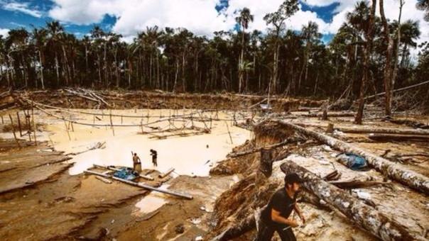 Los efecto de la minería ilegal en la selva peruana.