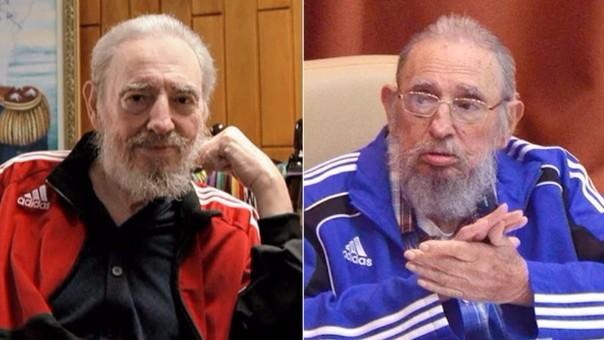 Fidel Castro ha cambiado el uniforme miliar por buzos de la conocida marca deportiva alemana