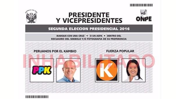 Cédula de votación