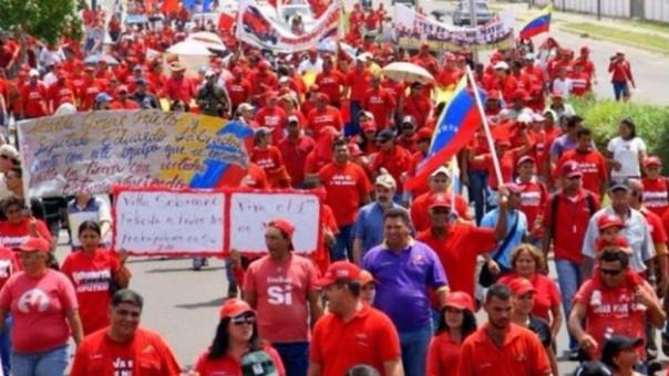 Simpatizantes del gobierno de Nicolás Maduro compartieron imágenes de la marcha chavista a través de Twitter