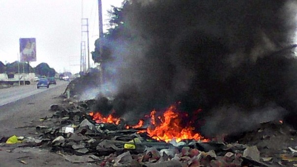 Trujillo: contaminan medio ambiente quemando basura