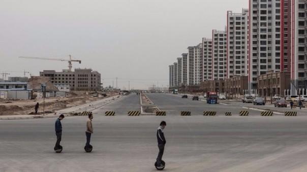 La ciudad fantasma está ubicada en la provincia de Gansu.