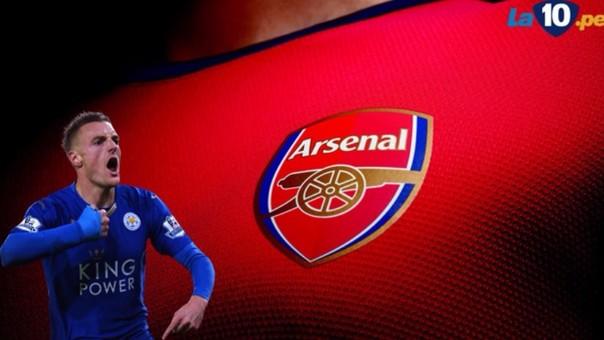 Jamie Vardy muy cerca del Arsenal