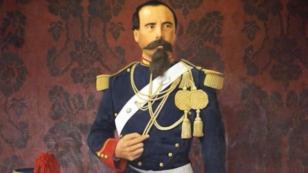 Francisco Bolognesi antes de retirarse del Ejército Peruano en 1871. No estuvo en el país durante el Combate de 2 de mayo por estar en una misión diplomática en Guayaquil.