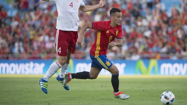 Lucas Vázquez tuvo su oportunidad con la camiseta de España.