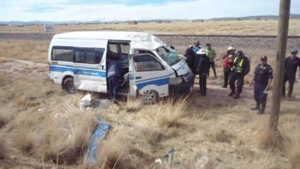 Accidente ocurrió en la vía Juliaca - Cusco.