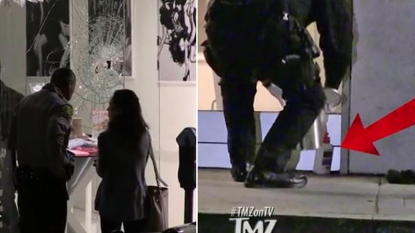 Intentaron prender fuego un local de ropa de las hermanas Kardashian