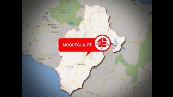 Sismo en Moquegua.