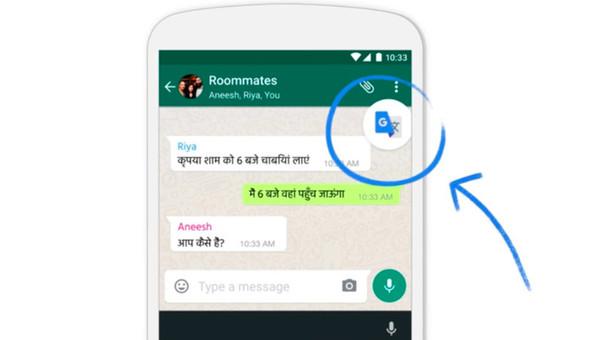 WhatsApp incorpora el traductor de Google