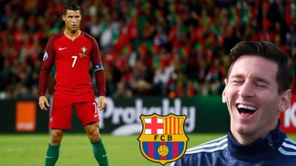 Lionel messi, Luis Suárez y Neymar en Instagram del Barcelona.