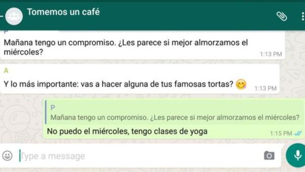 ¿Cómo responderle a una sola persona dentro de un grupo de WhatsApp?