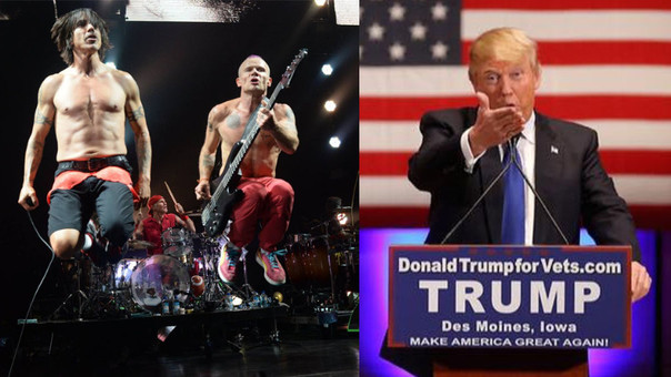 Red Hot Chili Peppers contra Donald Trump