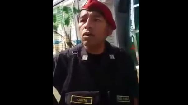 Policía malcriado