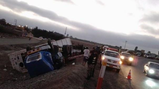 Accidente de tránsito en la Panamericana Norte.