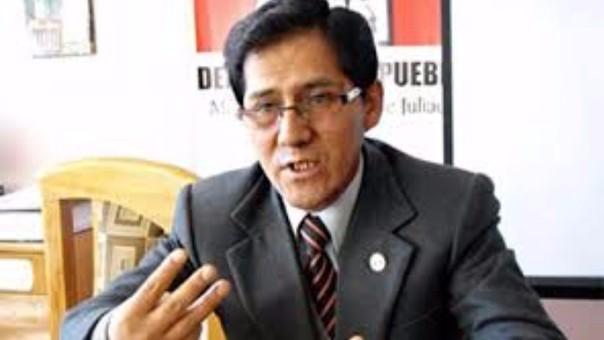Jacinto Ticona Huamán, jefe de la Defensoría del Pueblo en Puno.