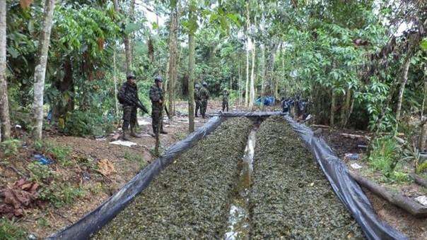 Poza de maceración fue descubierta e incinerada por la PNP.