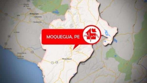 Sismo en Moquegua