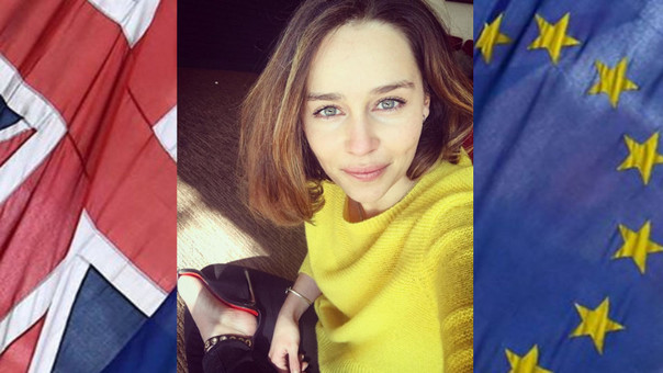 Emilia Clarke muestra su apoyo a la permanencia en la UE
