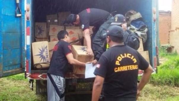 Julcán: incautan arsenal de explosivos de mineros ilegales
