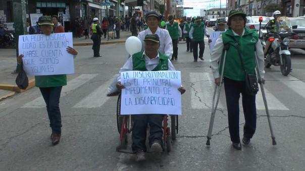 Marcha de personas con habilidades especiales