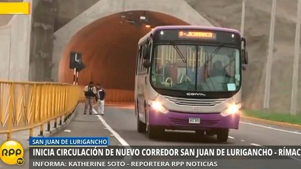 El 28 de junio el corredor vial San Juan de Lurigancho inició sus funciones. El precio inicial del pasaje era de 2 soles, pero fue este fue reducido.