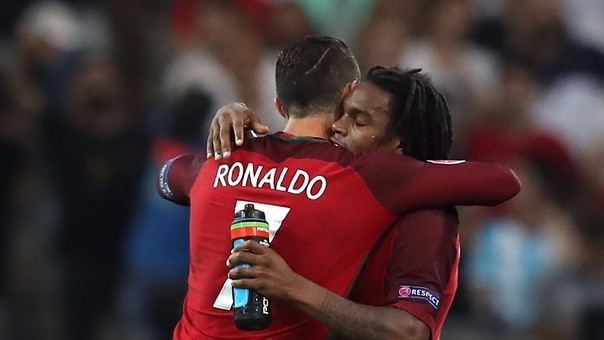 Renato Sanches y Cristiano Ronaldo
