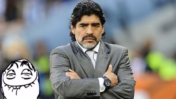 Maradona es víctima de un polémico meme hecho por hinchas chilenos