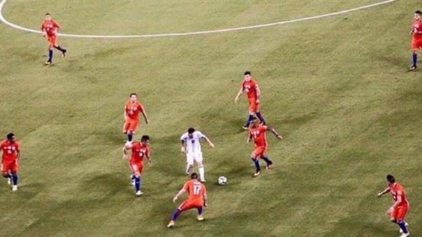 Uno de los espectadores de la final de la Copa América le tomó esta foto a Messi.