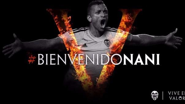 Nani deja el fútbol turco para jugar en el Valencia de España.