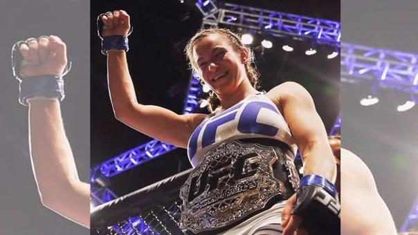 Miesha Tate logró el cinturón luego de vencer a Holly Holm en el evento UFC 196.