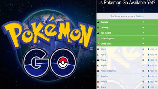 Pokémon Go todavía no llega al mundo entero