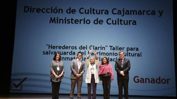Premiación a la Dirección Desconcentrada de Cultura de Cajamarca por