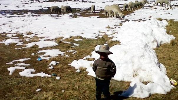 Bajas temperaturas en zonas altoandinas de Huancavelica.