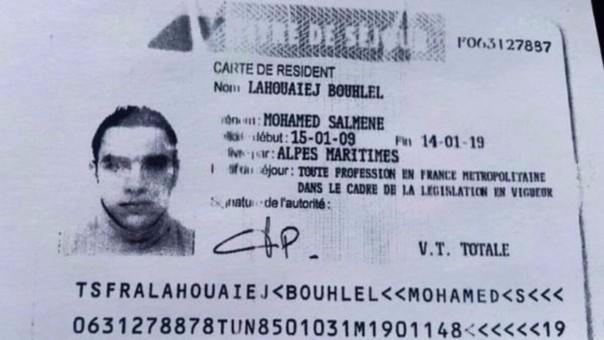 El carné del autor del atentado, según difundió la prensa francesa