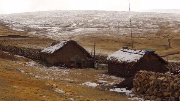 Bajas temperaturas en zonas alto andinas.