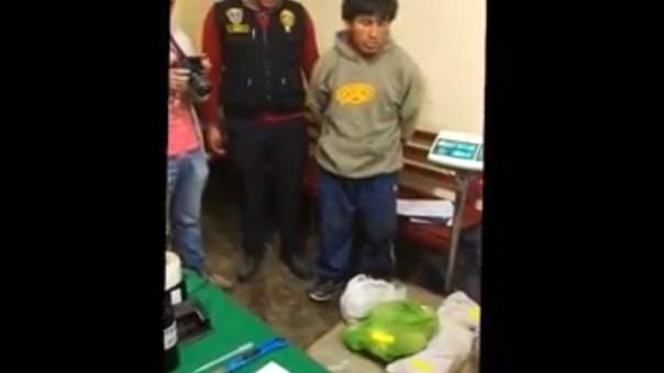 Policía Antidrogas intervino a Wilmer Ronal Tirado Zamora (26) en la provincai de San Marcos
